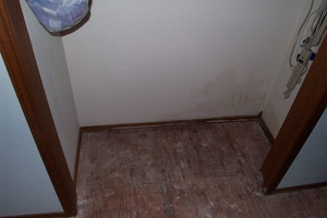 Water damage in closet