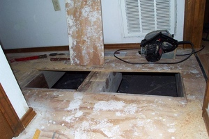Removing the subfloor
