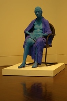 Blue woman with purple robe