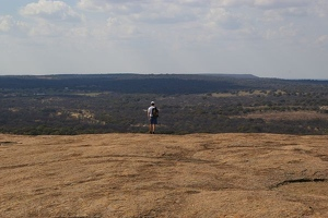 Kevin at the top of Enchanted Rock