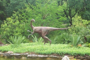Velociraptor playing on the island