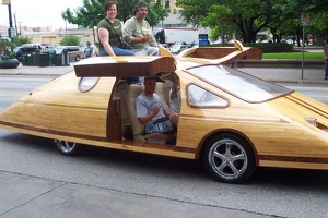 Wooden Gull Wing Car