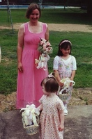 Kay with flower girls