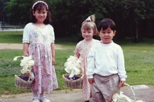 Flower girls and bubble boy