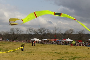 Kite over contest field