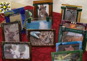 Fused glass picture frames
