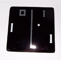 Pong in fused glass