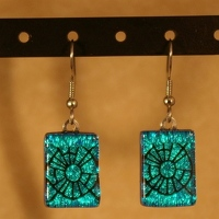 Laser etched earrings