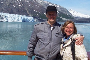 Kevin and Kay by Margerie glacier