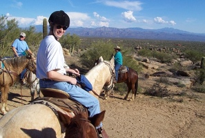 Kevin on horseback ride