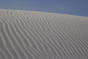 Sand dune carved by wind