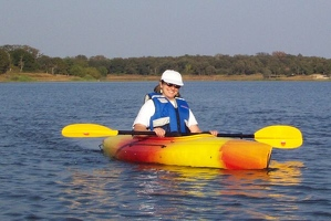 Kayaking on Lake Somerville