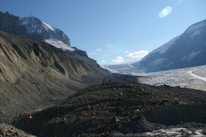 Columbia icefield - Andromeda and Athabasca glaciers