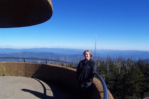 Kay up on Clingman's Dome