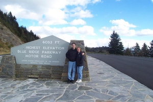 Kevin and Kay at highest elevation