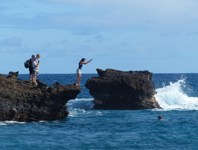 Diving off the rocks