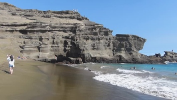 Video: Green sand beach
