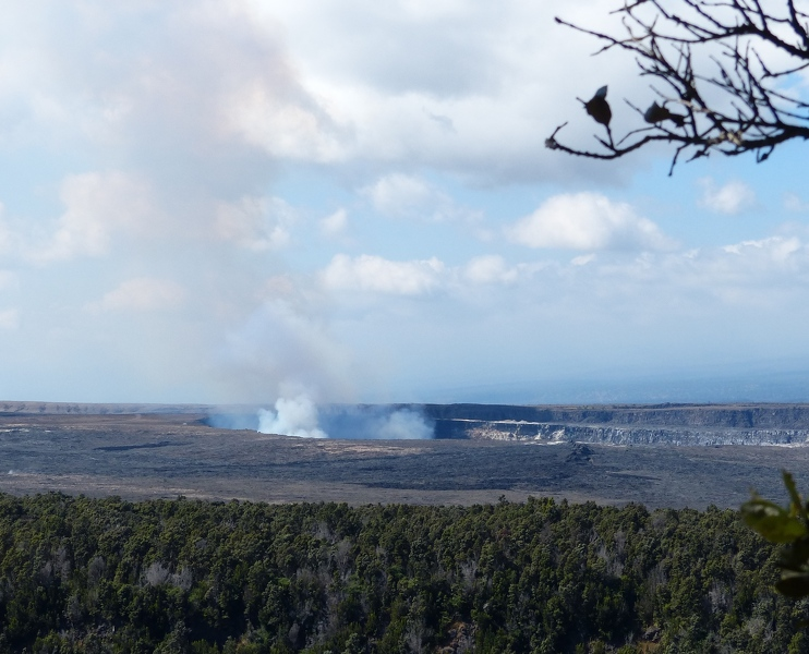 View of Kilauea from steam vents overlook