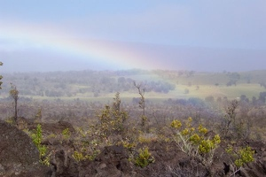 Rainbow over Ka'u Desert