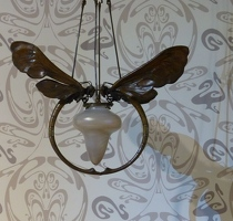 Art deco dragonfly lamp