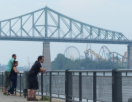 La Ronde Montreal from across the river