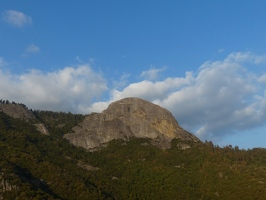 Moro Rock from the park highway