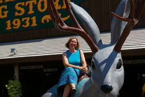 Kay with jackalope