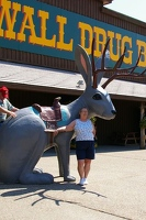 Jan with jackalope