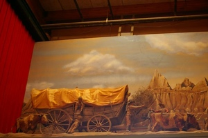 Model of covered wagon