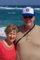 Joyce and George on beach
