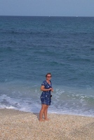 Kay collecting shells