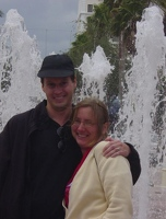 Kevin and Kay at Clematis Street fountain