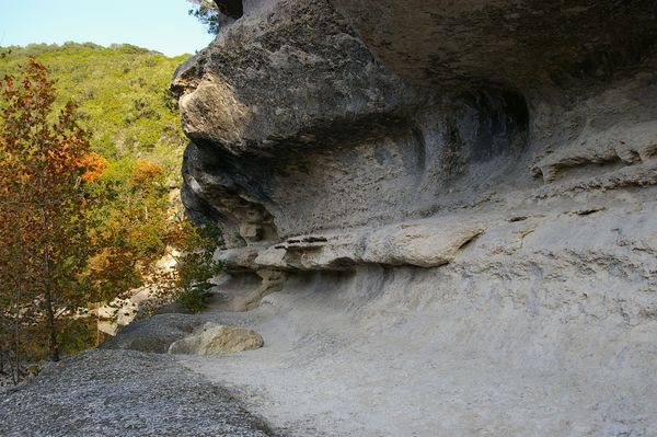 Rock formation along East trail